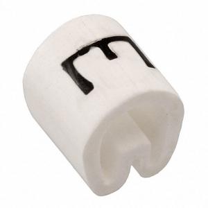 Kaablimärgis ´´E´´ valge, 2,9-4,7mm, kaablile / 1000tk pakis