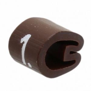 Kaablimärgis ´´1´´ pruun, 3,4-5,7mm, kaablile / 1000tk pakis