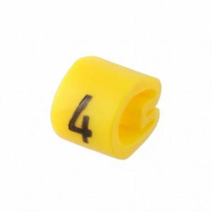 Kaablimärgis ´´4´´ kollane, 3,4-5,7mm, kaablile / 1000tk pakis