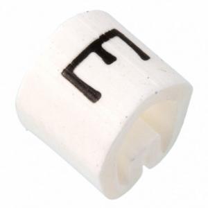 Kaablimärgis ´´E´´ valge, 3,4-5,7mm, kaablile / 1000tk pakis