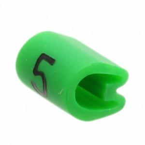 Kaablimärgis ´´5´´ roheline, 3,8-6,3mm, kaablile / 1000tk pakis