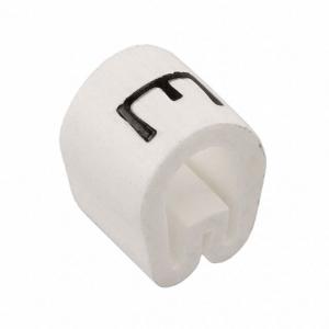 Kaablimärgis ´´E´´ valge 3,8-6,3mm, kaablile / 1000tk pakis