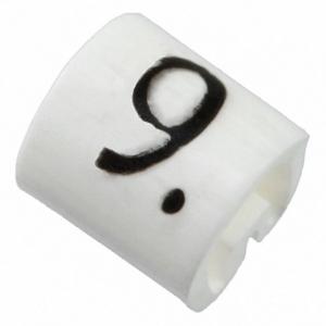 Kaablimärgis ´´9´´ valge, 7.9-12.7mm, kaablile / 250tk pakis