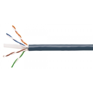 Keerdpaarkaabel Cat6 UTP 4x2x0,5 ühekiuline 23AWG 250MHz LSFRZH must 500m/rull