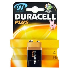 Patarei 9V 6LR61 Alkaline Duracell 550mA