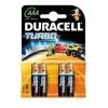 Patarei AAA 1,5V Duracell Turbo Alkaline / 4tk pakis