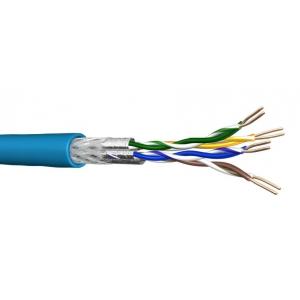 Keerdpaarkaabel Cat6 S/FTP 4x2x0,5 ühekiuline 23AWG LSZH Eca sinine 500m/rull