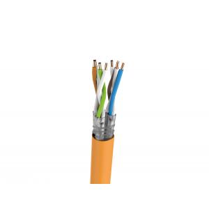 Keerdpaarkaabel Cat7 S/FTP 4x2x0,5 ühekiuline PiMF 23AWG LSZH oranž 1000m/rull