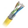 Keerdpaarkaabel Cat7 S/FTP 4x2x0,5 ühekiuline PiMF 23AWG FRNC oranz 500m/rull