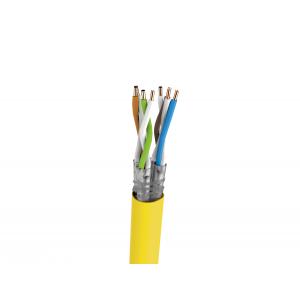 Keerdpaarkaabel Cat7a S/FTP 4x2x0,5 ühekiuline PiMF 23AWG LSZH kollane 1000m/rull