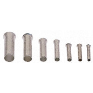 Juhtmehülss 1,5mm², isoleerimata, L=7mm ø2,8mm 500tk/pakk