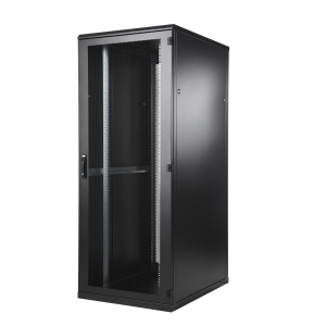 Seadmekapp 45U 2120x800x1200 k,l,s, perforeeritud uksed, kandevõime kuni 1000kg, must, TOP II
