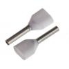 Juhtmehülss 2x0,5mm² valge L=6mm (500tk/pk)