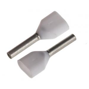 Juhtmehülss 2x0,5mm² valge L=6mm 500tk/pakk