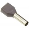 Juhtmehülss 2x0,75mm² hall L=8mm 500tk/pk