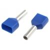 Juhtmehülss 2x2,5mm² L=10mm sinine 250tk/pakk