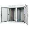 """19""""-21"""" BKT outdoor cabinet """"DASZ-AL"""" 35U 1300/725/1820 (W/D/H mm) RAL 7035 (double chamber, double leaf door, aluminum profile)"""