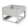 Underground metal plinth BKT 850/850/600 (W/D/H mm) RAL 7035