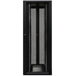 Seadmekapp 47U 2190x600x1200 k,l,s, perforeeritud uksed, kahepoolsed tagauksed, kandevõime kuni 1500kg, must, 4DC