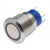 Lüliti SPDT Push Button, IP67, 19.2 (Dia.)mm, paneelile, roheline LED, 250V ac