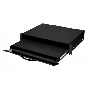 Klaviatuuri sahtel 19´´ 2U lukustatav 350mm sügav max3kg must
