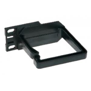 Kaablihoidja 2U vertikaalne must 80x80 plast