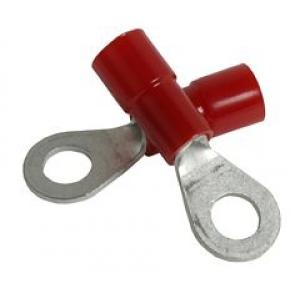 Kaabliking rõngas M3 0,25...1,5mm² juhtmele, punane, ø6mm