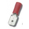 Faston pistik 2,8x0,5mm 0,25...1,5mm2 juhtmele, punane 100tk