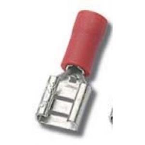 Faston pesa 2,8x0,8mm 0,25...1,5mm2 juhtmele, punane 100tk