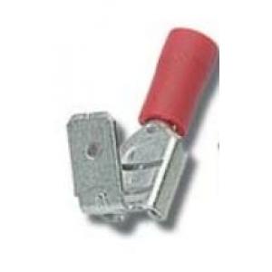 Faston M/F 6,3x0,8mm 0,25-1,5mm punane
