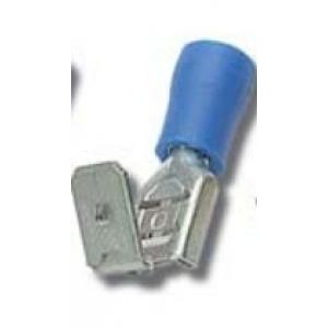 Faston M/F 6,3x0,8mm 1,5-2,5mm2 sinine