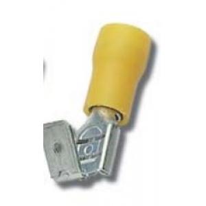 Faston M/F 6,3x0,8mm 4-6mm2 kollane 100tk/pk
