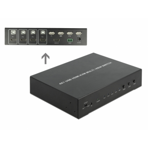 Multiview switch: 4 porti, HDMI, USB 2.0, kuni 1920x1080