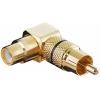 Adapter RCA (M) - (F), nurgaga, kullatud (A 196 B)