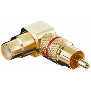 Adapter RCA (M) - (F), nurgaga, kullatud (A 196 R)