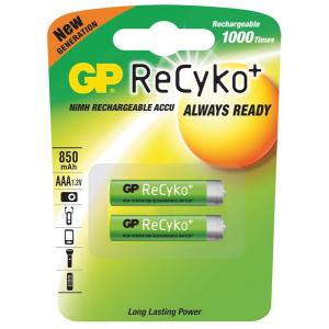 Aku AAA 1,2V 850mAh NiMH GP ReCyko Pro+ Blister 2tk. pakis
