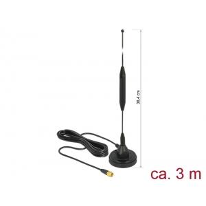 Ringantenn: 3.5dBi, GSM, UMTS, Z-Wave, LoRa, sise-ja välitingimustele, magnetalusega, RG-174 3.0m, sma pistik