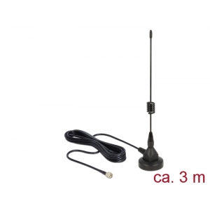 Ringantenn: 3dBi, UMTS, Z-Wave, LoRa, sise-ja välitingimustele, magnetalusega, RG-174 3.0m, sma pistik