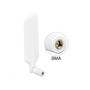 Ringantenn: 1-4dBi LTE, Bluetooth,GSM, UMTS, WLAN Dualband, ZigBee, Z-Wave, sisetingimustele, SMA pistik, valge