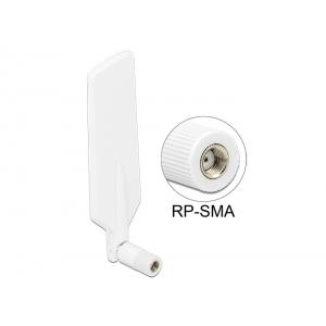 Ringantenn: 1-4dBi LTE, Bluetooth,GSM, UMTS, WLAN Dualband, ZigBee, Z-Wave, sisetingimustele, RP-SMA pistik, valge