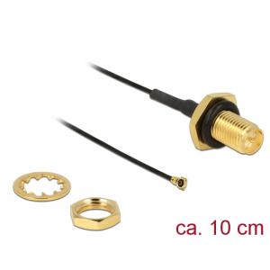 Üleminek antennile RP-SMA - MHF 4 0.81, 10cm, 9mm keermega, pritsmekindel