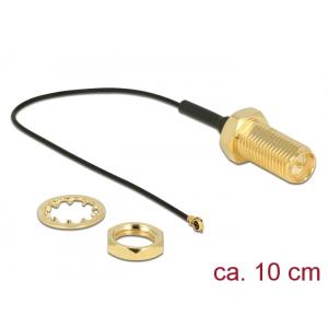 Üleminek antennile RP-SMA - MHF 4 0.81, 10cm, 10mm keermega, pritsmekindel