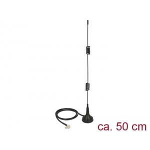 Suundantenn: 5 dBi LTE, GSM, ZigBee, NB-IoT, b/g/n 2.4GHz, sise-ja välitingimustele, magnetalusega, 0.5m, TS-9 pistik