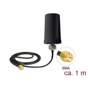 Ringantenn: 0.7 - 1.6 dBi, GSM, UMTS, LTE, NB-IoT, DECT, Z-Wave, ZigBee, LoRa 868-915MHz, 1.0m, sma