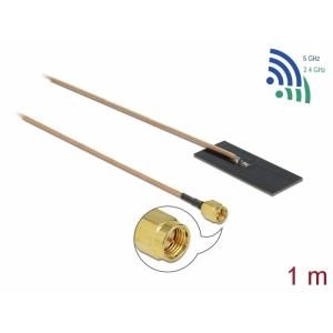 Ringantenn: 0.5 - 1.2 dBi ac/ax/a/h/b/g/n, SMA pistik, isekleepuv