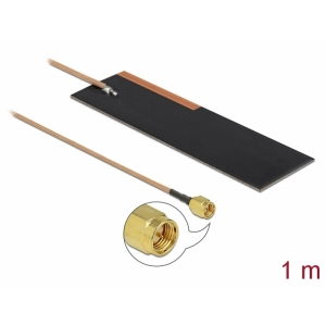 LPWAN antenn: 1 - 2 dBi ZigBee, Z-Wave, GSM, LTE, NB-IoT, LoRa, ISM, sisetingimustele, SMA pistik, isekleepuv