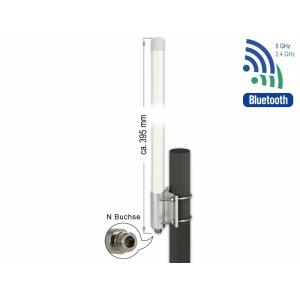 Ringantenn: 6.2-8 dBi WLAN ac/ax/a/h/b/g/n, väliingimustele, kinnitused komplektis, N