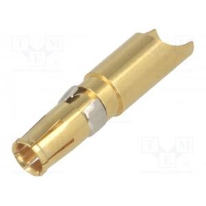 Toitekontakt 40A pesa AWG8-10, solder cup, Class C, Gold