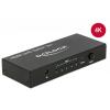 HDMI splitter, 5 sisse/ 1 välja, 3840 x 2160 @60Hz, must
