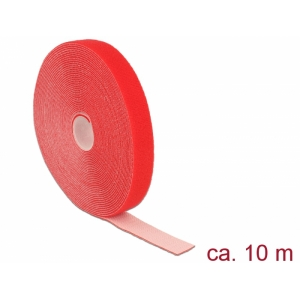 Takjapael 20mm x 10.0m HOOK and LOOP, punane